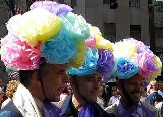 Easter bonnet parade new york men hats