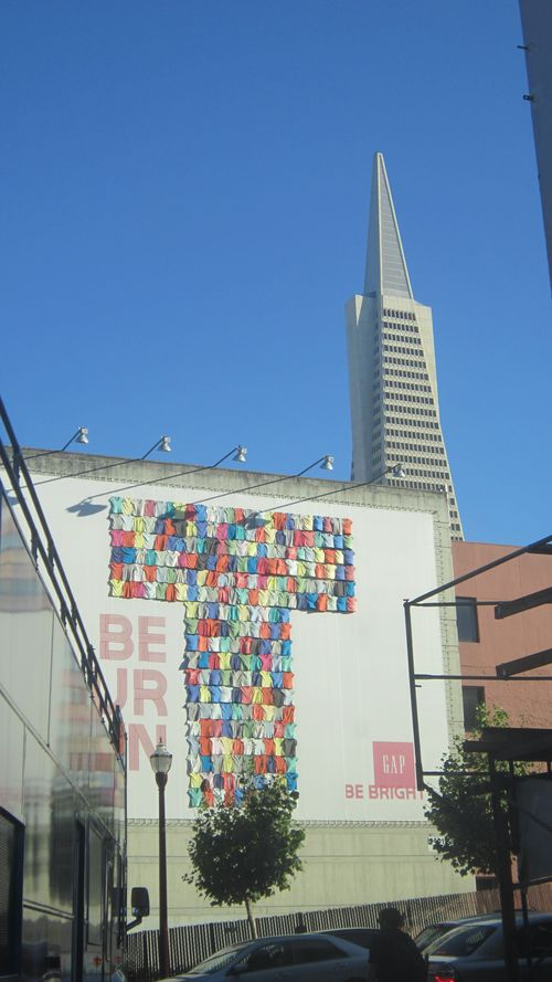 Gap tshirt billboard san francisco transamerica pyramid