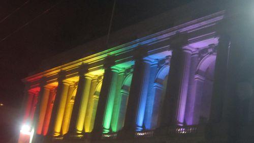Sf opera house rainbow light lit war memorial pride week