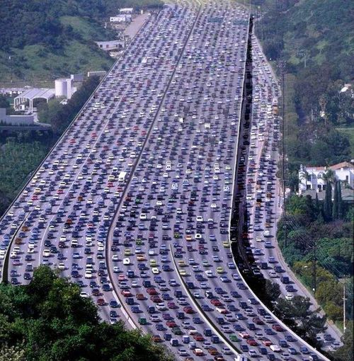Traffic-jam marissa mayer yahoo idea of productivity